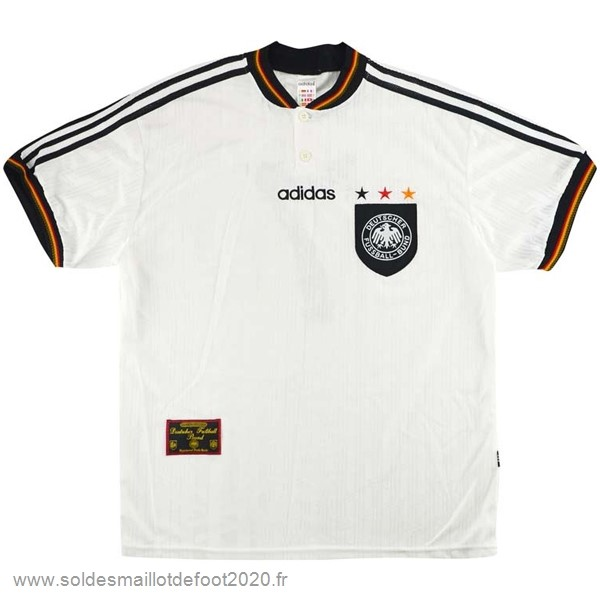 Maillot France Foot Domicile Maillot Alemania Rétro 1996 Blanc