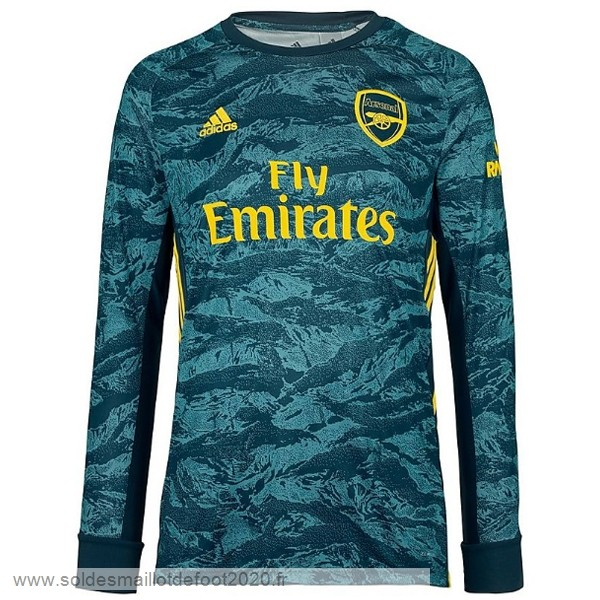 Maillot France Foot Manches Longues Gardien Arsenal 2019 2020 Vert