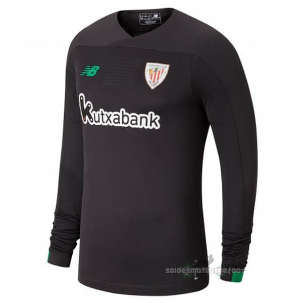 Maillot France Foot Manches Longues Gardien Athletic Bilbao 2019 2020 Gris Noir