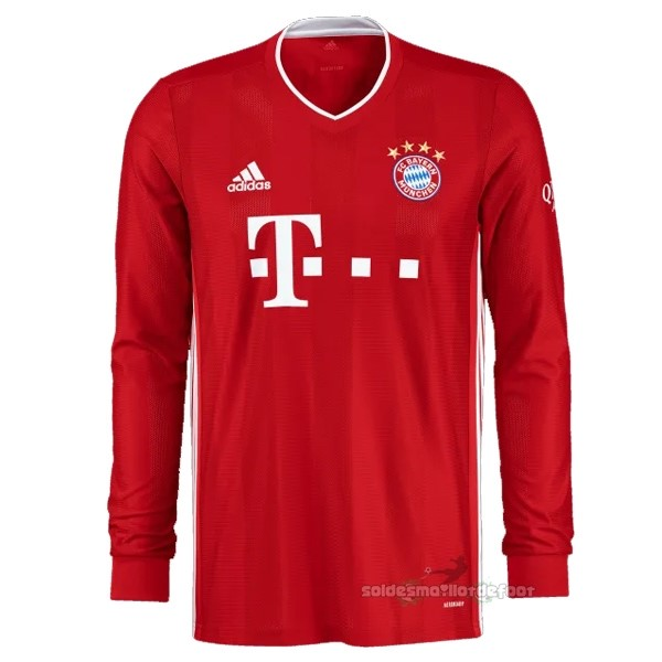 Maillot France Foot Domicile Manches Longues Bayern Múnich 2020 2021 Rouge
