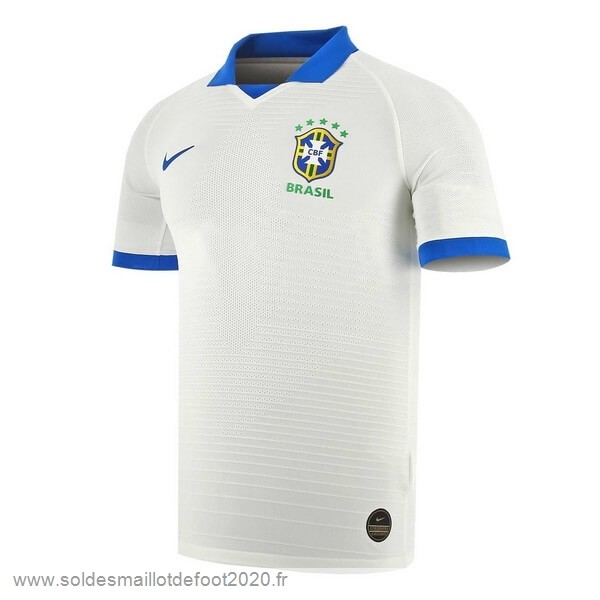 Maillot France Foot Thailande Exterieur Maillot Brasil 2019 Blanc