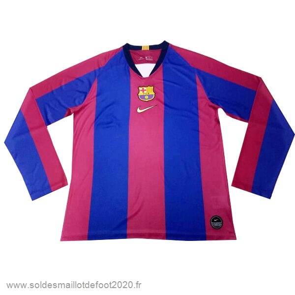 Maillot France Foot Manches Longues Barcelona 120th Bleu Rouge