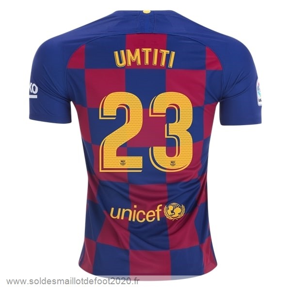 Maillot France Foot NO.23 Umtiti Domicile Maillot Barcelona 2019 2020 Bleu Rouge