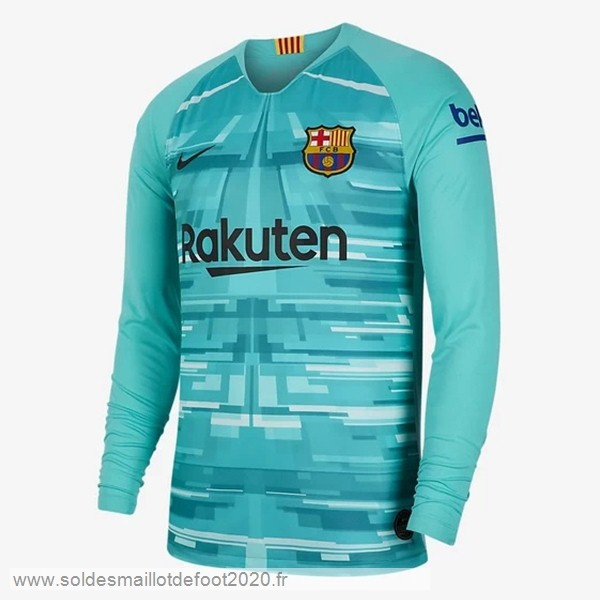 Maillot France Foot Maillot Gardien Manches Longues Barcelona 2019 2020 Vert