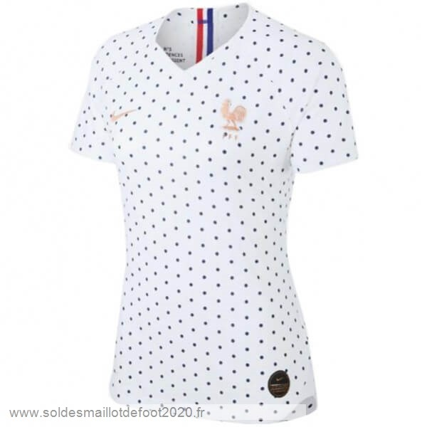 Maillot France Foot Exterieur Maillot Femme Francia 2019 Blanc