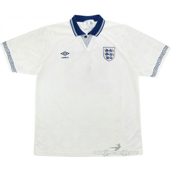 Maillot France Foot Domicile Maillot Angleterre Rétro 1990 Blanc