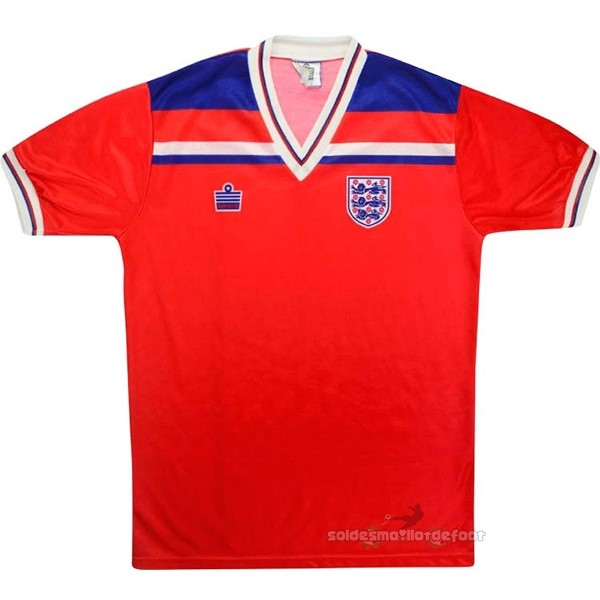 Maillot France Foot Exterieur Maillot Angleterre Rétro 1980 Rouge