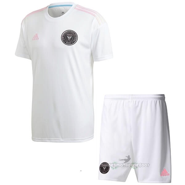 Maillot France Foot Exterieur Ensemble Enfant Inter Miami 2020 2021 Blanc