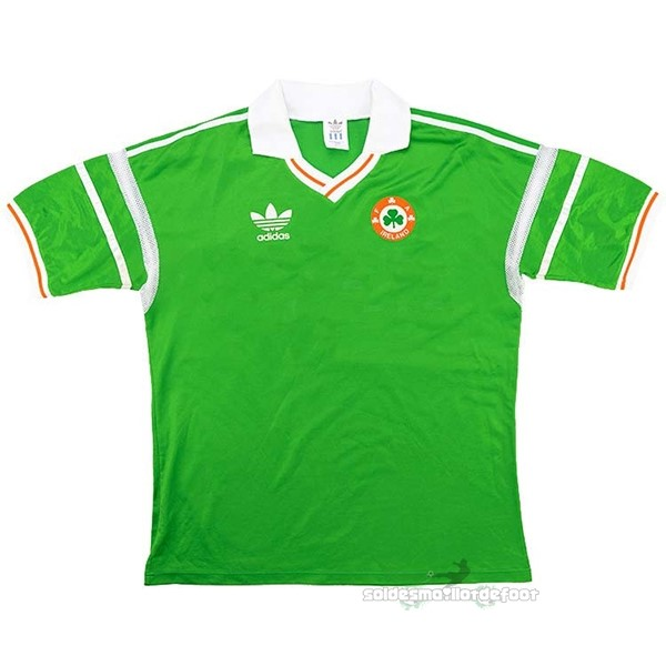 Maillot France Foot Casa Camiseta Irlande Retro 1988 1990 Vert