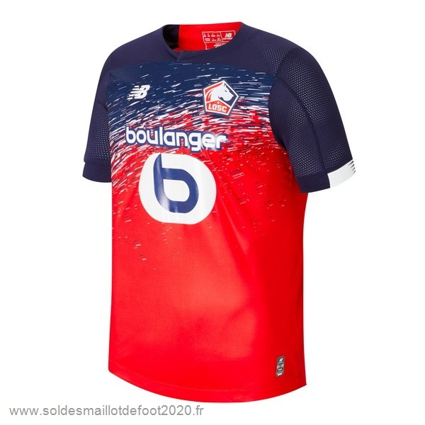 Maillot France Foot Domicile Maillot Lille 2019 2020 Rojo