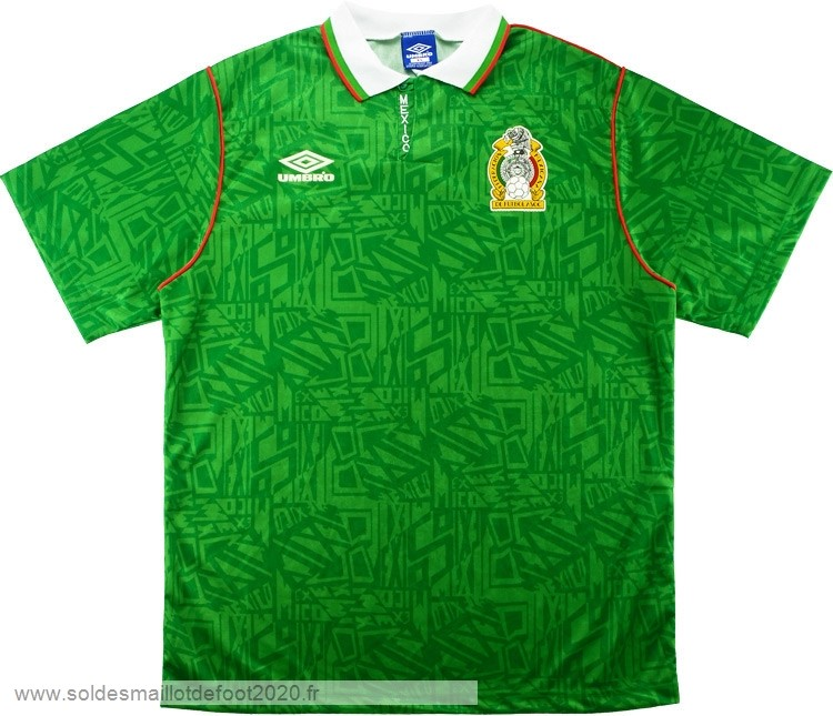 Maillot France Foot Domicile Maillot Mexico Rétro 1994 Vert