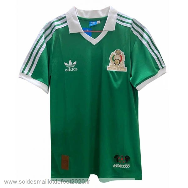 Maillot France Foot Domicile Maillot Mexico Retro 1986 Vert