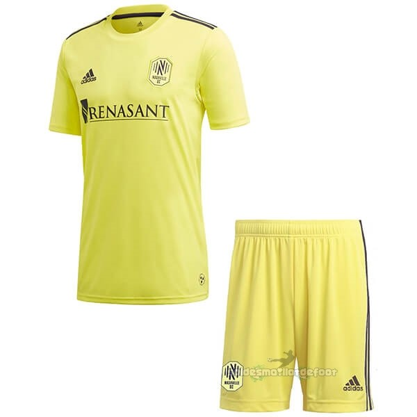 Maillot France Foot Domicile Ensemble Enfant Nashville 2020 2021 Jaune