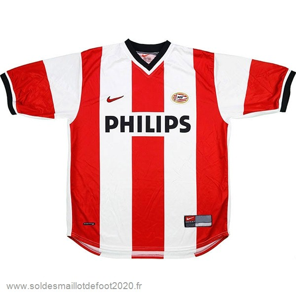 Maillot France Foot Domicile Maillot PSV Retro 1998 2000 Rouge Blanc