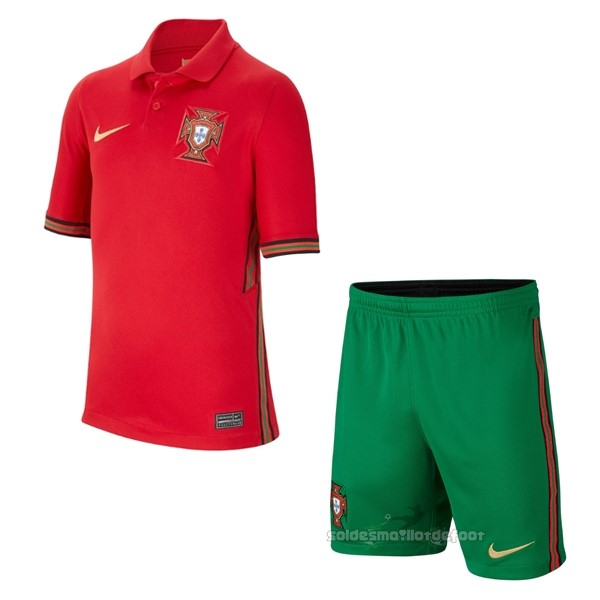 Maillot France Foot Domicile Conjunto De Enfant Portugal 2020 Rouge