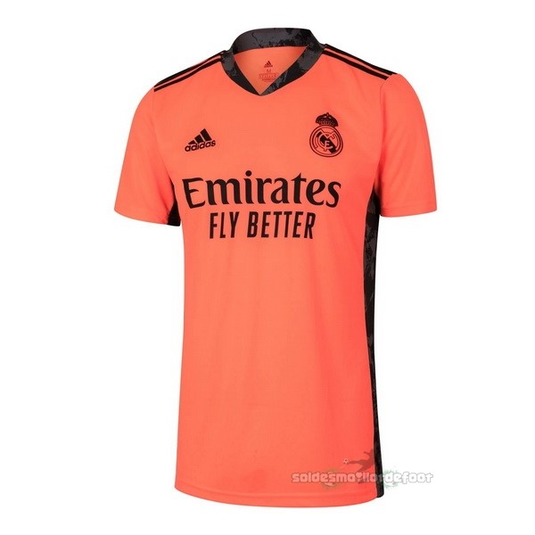 Maillot France Foot Exterieur Maillot Gardien Real Madrid 2020 2021 Orange