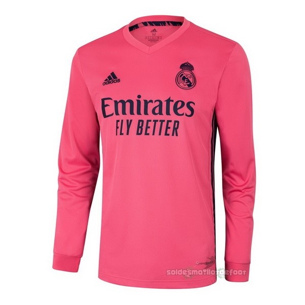 Maillot France Foot Exterieur Manches Longues Real Madrid 2020 2021 Rose