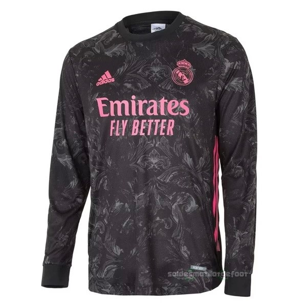 Maillot France Foot Third Manches Longues Real Madrid 2020 2021 Noir
