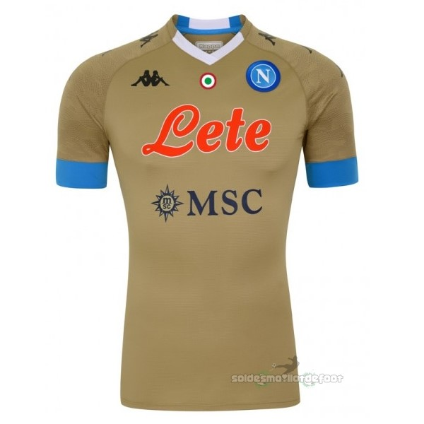 Maillot France Foot Domicile Maillot Gardien Napoli 2020 2021 Marron