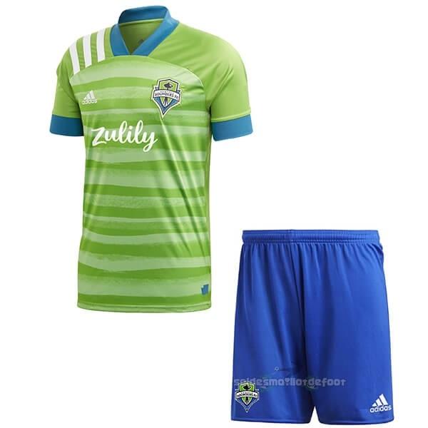 Maillot France Foot Domicile Ensemble Enfant Seattle Sounders 2020 2021 Vert