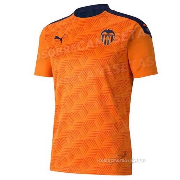Maillot France Foot Exterieur Concept Maillot Valencia 2020 2021 Orange
