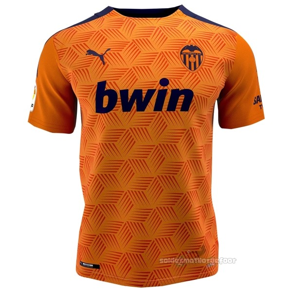 Maillot France Foot Exterieur Maillot Valencia 2020 2021 Orange