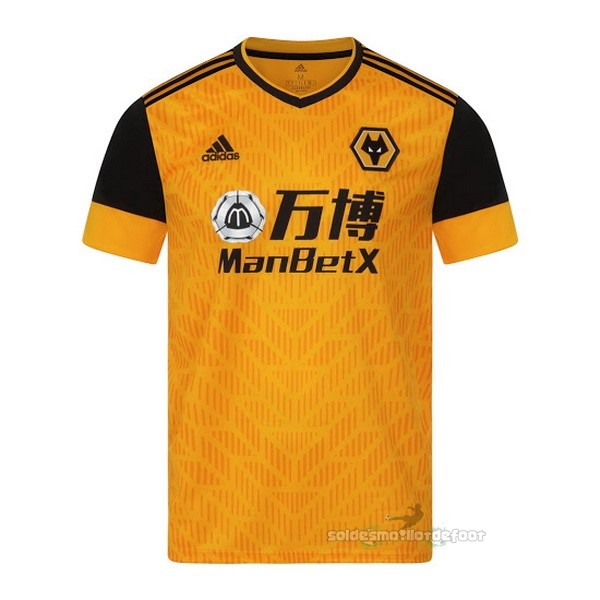 Maillot France Foot Domicile Maillot Wolves 2020 2021 Jaune