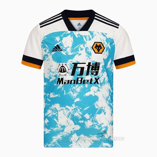 Maillot France Foot Exterieur Maillot Wolves 2020 2021 Blanc